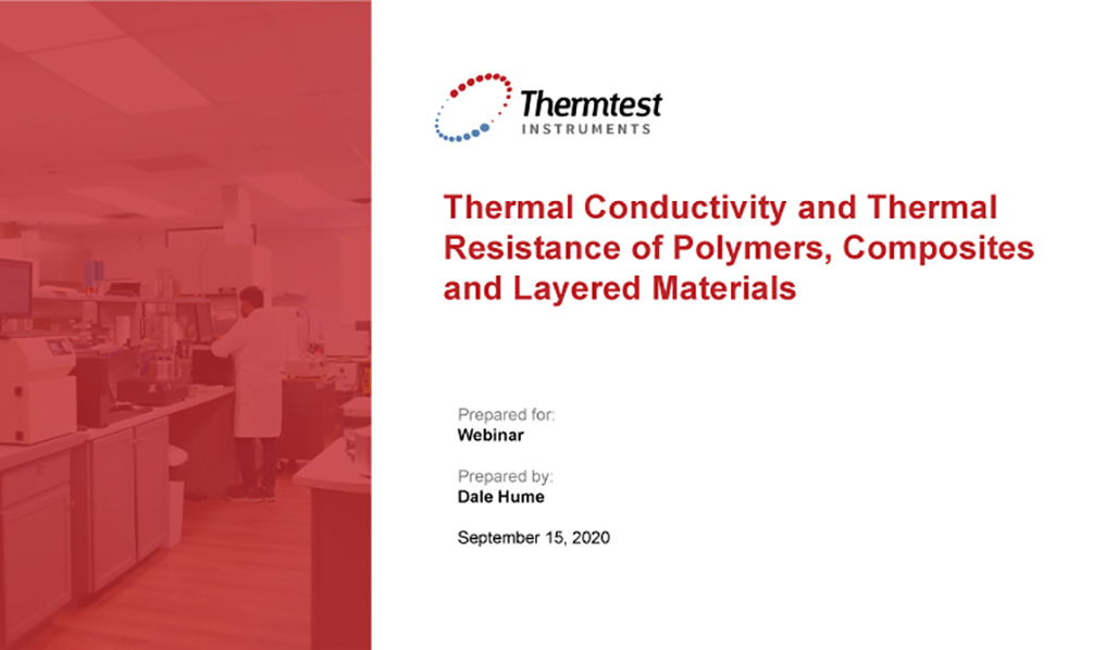 Thermal Conductivity and Thermal Resistance of Polymers and Composites with Guarded Heat Flow Meter