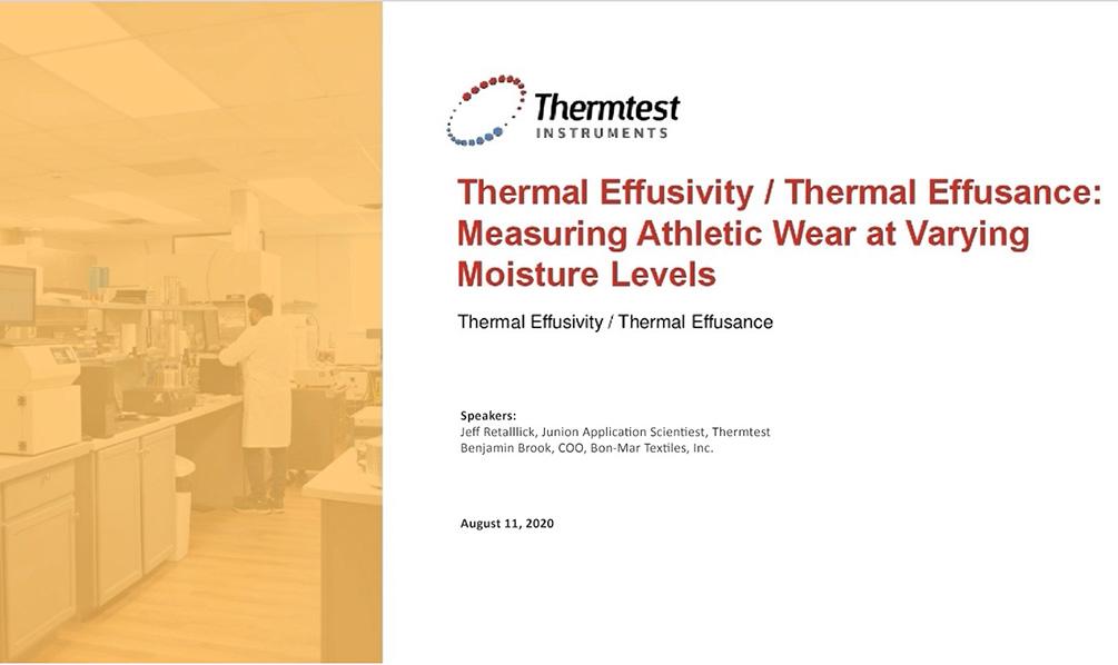 thermal effusivity webinar